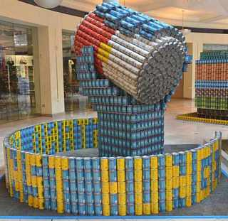 Sculptures from cans