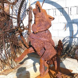 Welded sculpture - dog